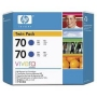HP 70 Designjet Twin Pack Pack Blue Ink Cartridge (CB349A)