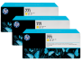 HP 771 Designjet Triple Pack Yellow Ink Cartridge (B6Y34A)