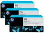 HP 771 Designjet Triple Pack Light Cyan Ink Cartridge (B6Y36A)