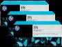 HP 771 Designjet Triple Pack Light Cyan Ink Cartridge (B6Y36A)