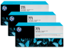 HP 771 Designjet Triple Pack Photo Black Ink Cartridge (B6Y37A)