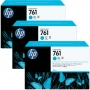 HP 761 Designjet Triple Pack Cyan Ink Cartridge (CR272A)