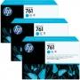 HP 761 Designjet Triple Pack Cyan Ink Cartridge (CR272A)