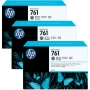 HP 761 Designjet Triple Pack Dark Grey Ink Cartridge (CR274A)
