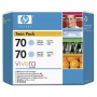 HP 70 Designjet Twin Pack Light Cyan Ink Cartridge (CB351A)
