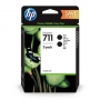 HP 711 Black Ink Cartridge - 80ml x 2 (P2V31A)