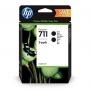 HP 711 Black Ink Cartridge - 80ml x 2 (P2V31A)