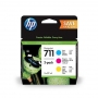 HP 711 Cyan, Magenta and Yellow Cartridge 28ml each (P2V32A)