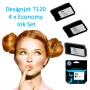 HP 711 Full set of 4 x Economy Inks for your Designjet T120 (T120ECO)