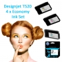 HP 711 Full set of 4 x Economy Inks for your Designjet T520 (T520ECO)