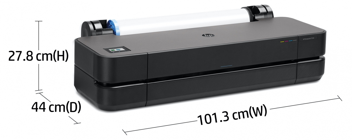 DesignJet T250 24-inch Printer 5HB06A - printer dimensions