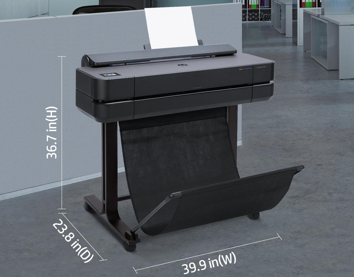 DesignJet T650 24-in printer 5HB08A - dimensions