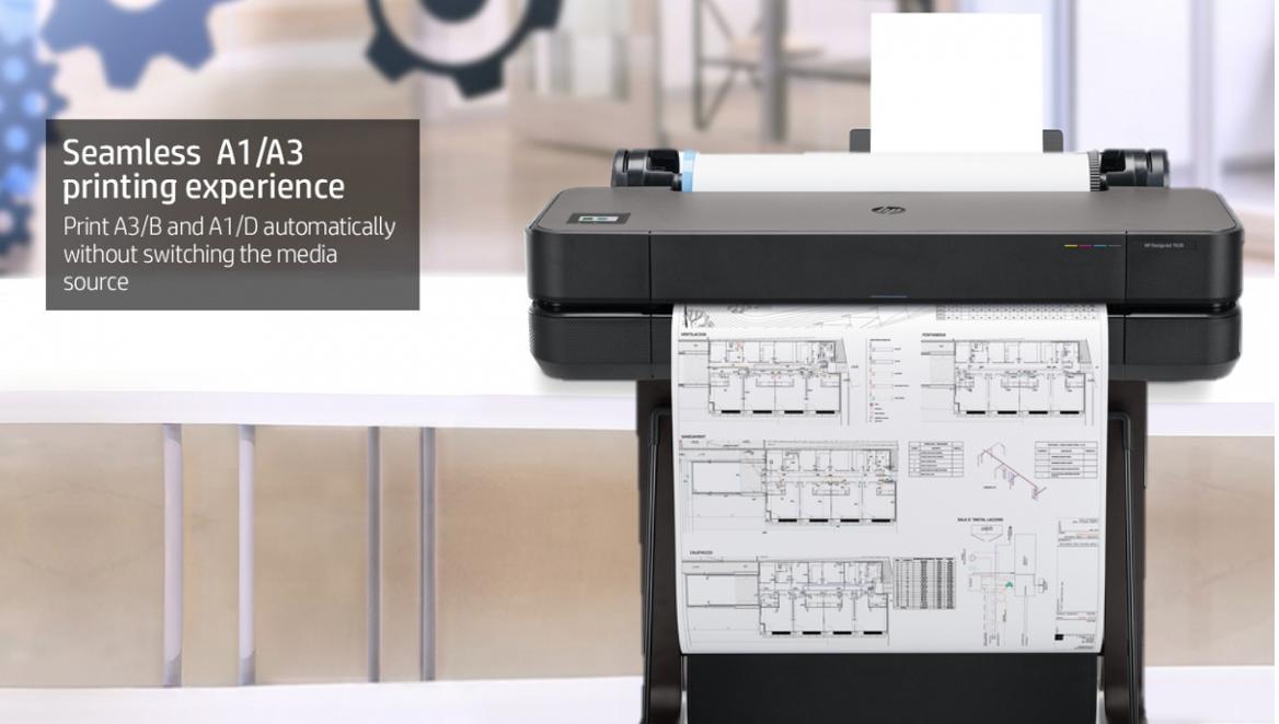 DesignJet T630 24-in printer 5HB09A seamless A1/A3 printing