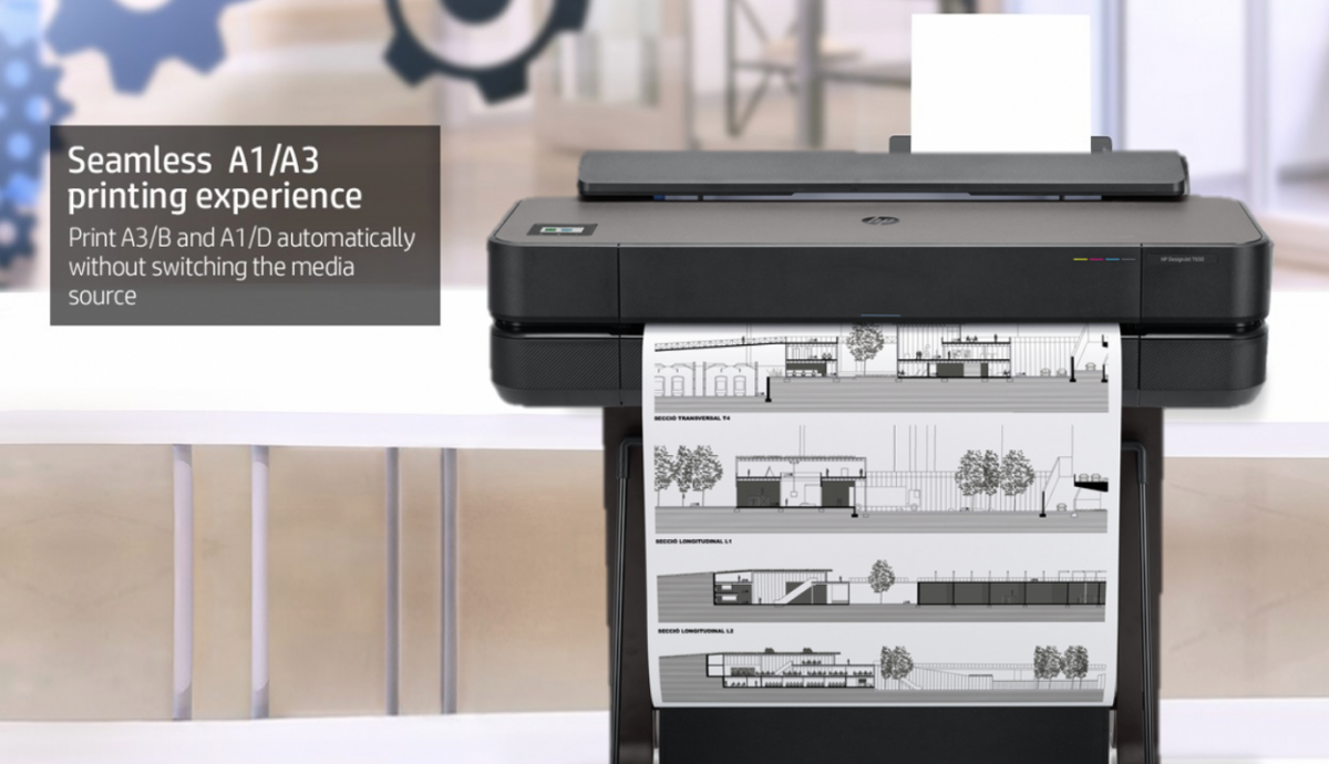 DesignJet T650 24-in printer 5HB08A- Seamless printing experience