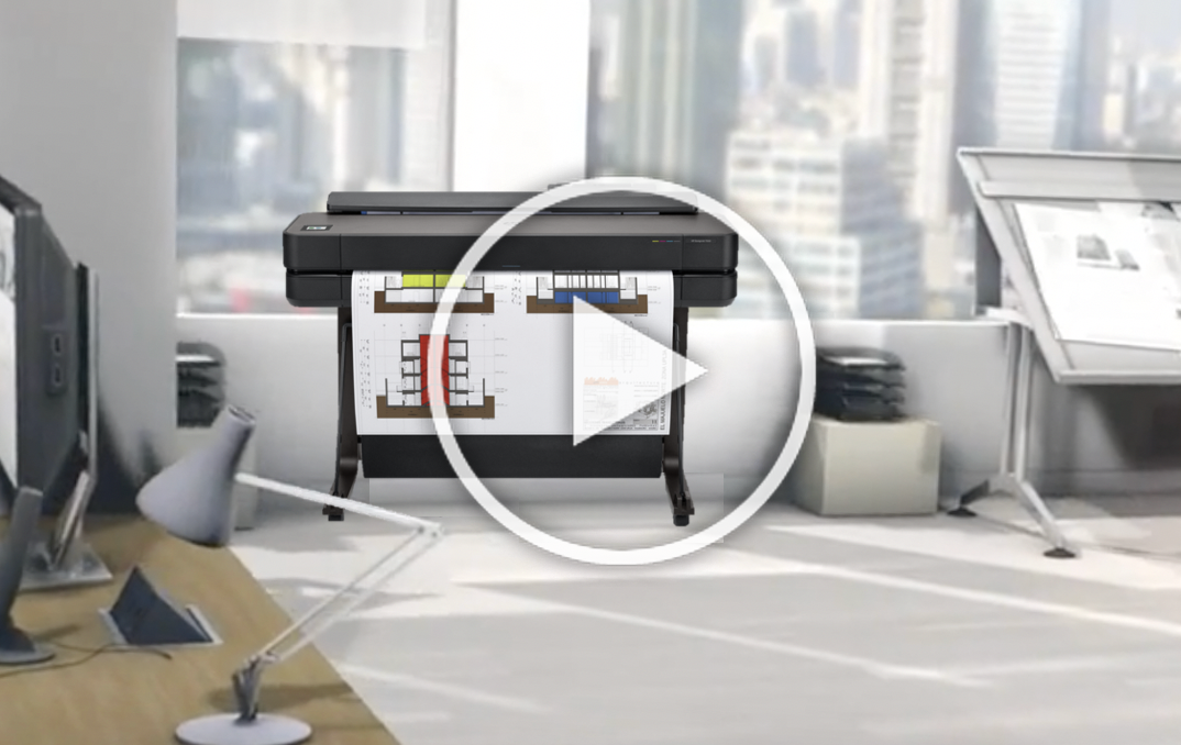 DesignJet T650 36-in printer 5HB10A Video